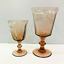 Lenox 8 PC Glass Rose Water Sweet Dessert Wine Goblets Service for 4 EUC