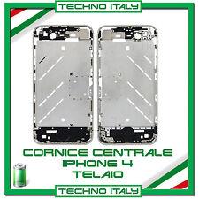 TELAIO CENTRALE COMPLETO IPHONE 4 CORNICE METALLO MIDDLE BOARD 4 FRAME