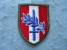 WWII US Army Patch Austria Occupation Band of Brothers White Back Variation WW2