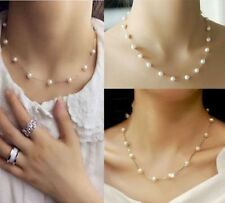 AnM Trendy Jewelry Choker / Chain Artificial Pearls Statement Bib Necklace- C311