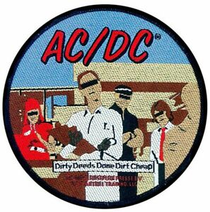 AC/DC Dirty Deeds Done Dirt Cheap Patch [UK Import] Memorabilia Emblem Logo ACDC