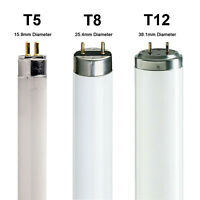 T5 T8 T12 Fluorescent Tubes 2ft 3ft 4ft 5ft 6ft Warm Cool Daylight Standard