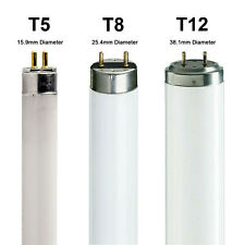 T5 T8 T12 Fluorescent Tubes 2ft 3ft 4ft 5ft 6ft ✓Warm ✓Cool ✓Daylight ✓Standard