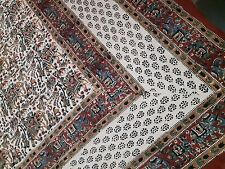100% Cotton Single Bedsheet Vegetable Dyed Bedding Bagru Hand Block Printed