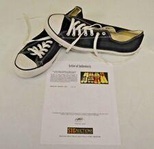Converse All Star Black Low Basketball Sz 13 DWAYNE WADE Personal Shoes w COA
