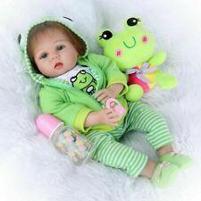 Reborn Baby Puppe 55 cm Lebensecht Handgefertigt Weich Silikon-Vinyl Mädchen DHL
