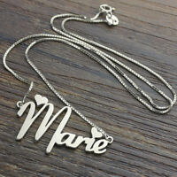 Gold / Silver Plated Personalized Name Necklace Any Name Pendants Gift Box Chain