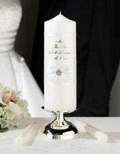 White Lace Candle Set