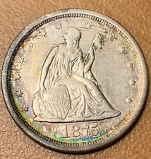 1875-S Twenty Cent Piece In Almost Uncirculated Condition M264