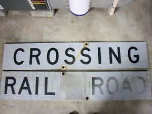 48X9 inch 2 part railroad crossing sign