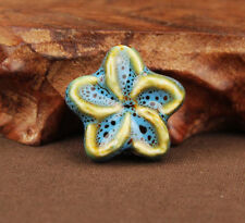 5Pcs Charm Mixed Czech Glass Oval Loose Big Hole Charm Spacer Beads Jewelry