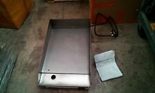 More details for commercial electric griddle kitchen hotplate countertop chip fryer grill bacon