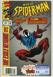 Web of Spider-Man #118 | CBCS RAW 7.5 | 1st Scarlet Spider Venom Appearance KEY