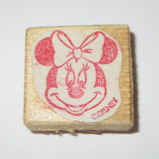 Minnie Mouse Rubber Stamp Disney Character Cartoon Wood Mounted Mini