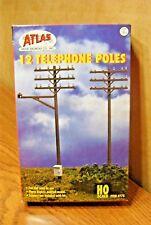 ATLAS MODEL RAILROAD HO SCALE TELEPHONE POLES 12/box