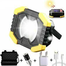 80W Led Portable Spotlight Solar Led Work Light USB Rechargeable Outdoor Lamp