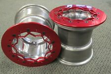 8 x 8 Jr. Dragster Rear Beadlock Wheels(Set of 2) Red Rings