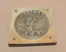Reims France Brass Ashtray 4 inches wide Patent Depose (11295)