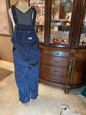Mens Blue Denim Carpenter Bib Overalls 36x31 Sears Tradewear USA Union Made VTG