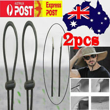 TWO Hat Chin Strap Cord / Mens Cowboy Hat Chinstrap & Toggle,Windproof - No Hat