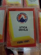 1990-91 Pro Cards AHL Utica Devils Hockey Team Set Sealed