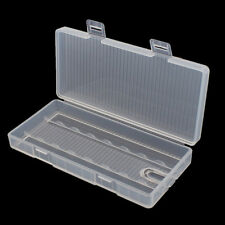 Portable Hard Plastic Battery Clear Case Holder Storage Box for 8  AA Battery