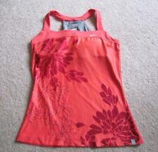 NIKE Women's DRI FIT red floral bra top M yoga tennis dance running cycling
