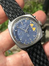Vintage Favre-Leuba Chronograph Mens Watch 35mm Valjoux 23 Swiss Made