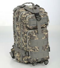 Military Utility Tactical Survival ACU MOLLE Backpack Camping Hiking Wargame #12