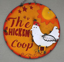 Metal SignTHE CHICKEN COOP Lodge Man Cave Home Decor Recycled Hen Rooster Chick