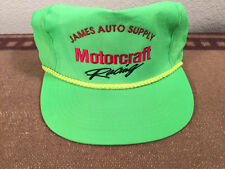 Lime Green Motorcraft Racing Cap Hat one size fits all James Auto Supply