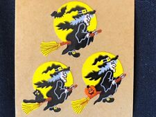1 VINTAGE 80'S SANDYLION  HALLOWEEN WITCHES STICKER