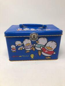 Vintage Sanrio Ahiru No Pekkle Tin Container Lunch Or Pencil Box 1993