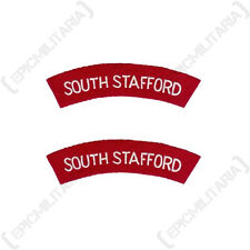 South Stafford - WW2 Repro Shoulder Titles Patch Badge Flash Arm Sleeve Army New