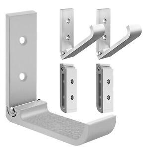 Geekria Foldable Wall Mount Headphones Holder Stand Aluminum Wallmount Hook-5pcs