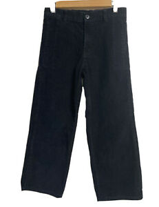 HANNA ANDERSSON  Boys Black Flat Front Corduroy Pant Size 8 130cm - Gently Worn