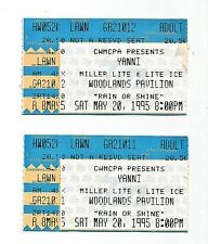 1995 Pair of Yanni Concert Ticket Stubs