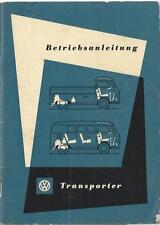 VW TRANSPORTER  BULLI  T1 Betriebsanleitung 1957 Bedienungsanleitung Handbuch BA