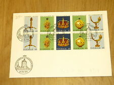 Sverige Sweden Suede Schweden Zweden FDC Stockholm Riksregalier 1971 jewel stamp