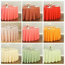 LinenTablecloth 108 in. Round Polyester Tablecloths, 33 Colors!