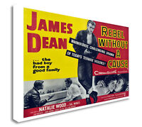 James Dean Rebel Without a Cause Movie Film Canvas Wall Art Picture Print