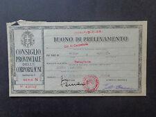 BANCONOTA BUONO DI PRELEVAMENTO CUNEO BOVES  3 8 1948 NUMISMATICA SUBALPINA