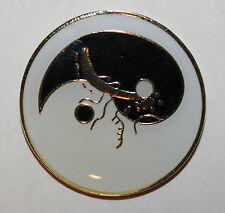 Yin Yang Balance Peace Lapel Hat Pin Brooch Hippie