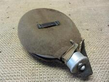 Vintage Military Canteen > Antique Old Aluminum Felt w Brass Snaps Western 8070