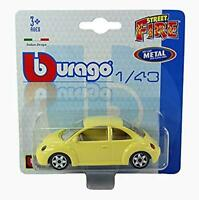 New 1/43 Diecast Model Car Street Fire' Range - Volkswagon VW Beetle in Yellow