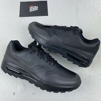 NIKE AIR MAX 1 TRIPLE BLACK UK 8.5 EU 43 US 9.5 - AQ0863 004 NEW