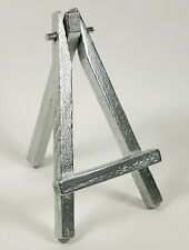 "5"" Wood Mini Easels Bright Chrome w/Rubber feet for Art ATC's Parties Cards +"