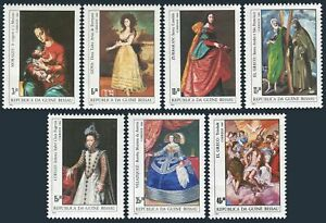 Guinea Bissau 553-559,560 sheet,MNH. Paintings by Spanish Artists:Goya,El Greco,