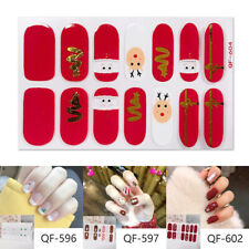 Christmas Sticker Nail Girl's Nail Sticker Autumn and Winter Waterproof