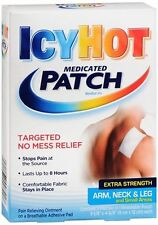 ICY HOT Medicated Patches Extra Strength Small (Arm, Neck, Leg) 5 Each (2 pack)
